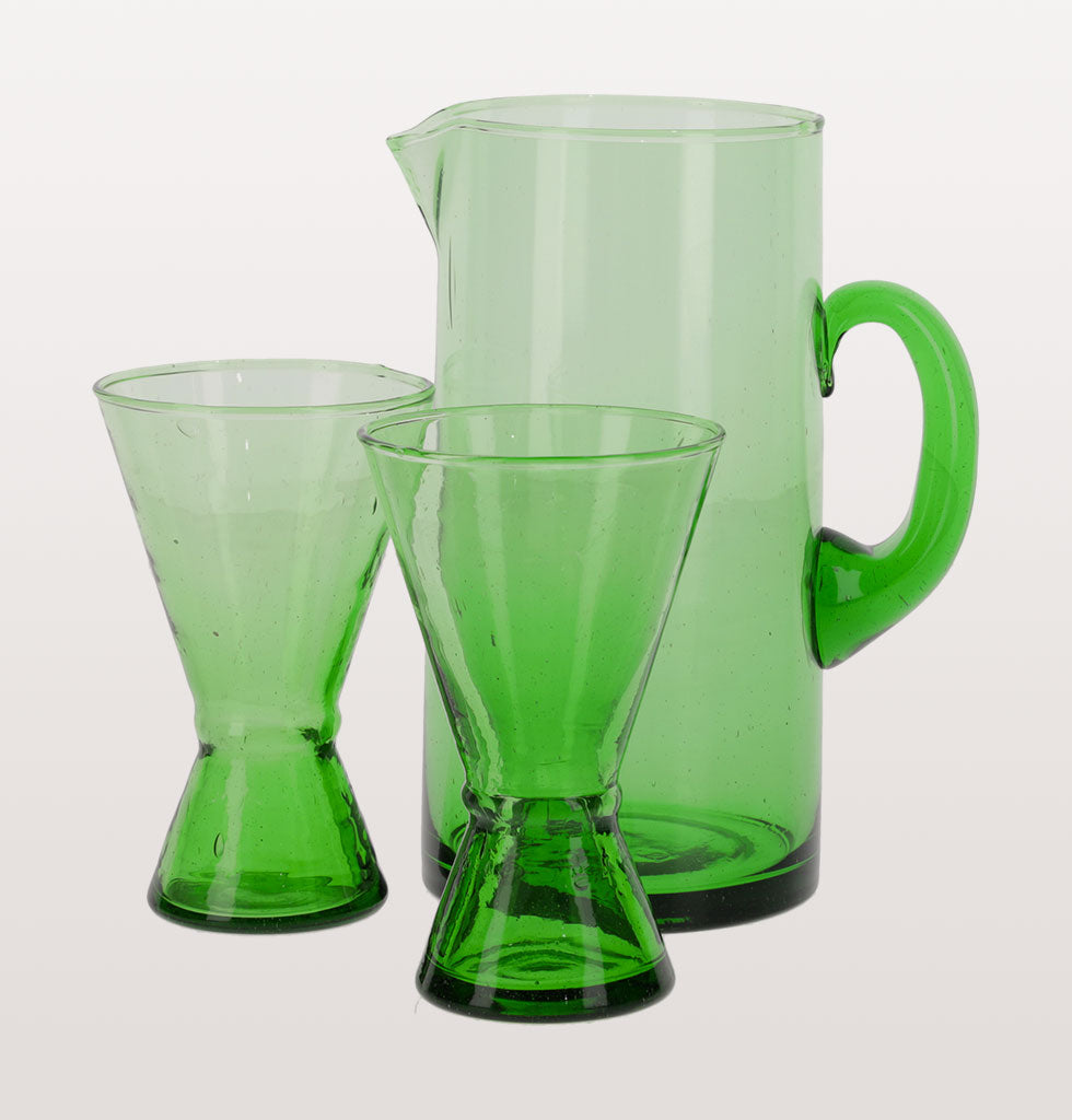 BELDI GREEN GLASS JUG