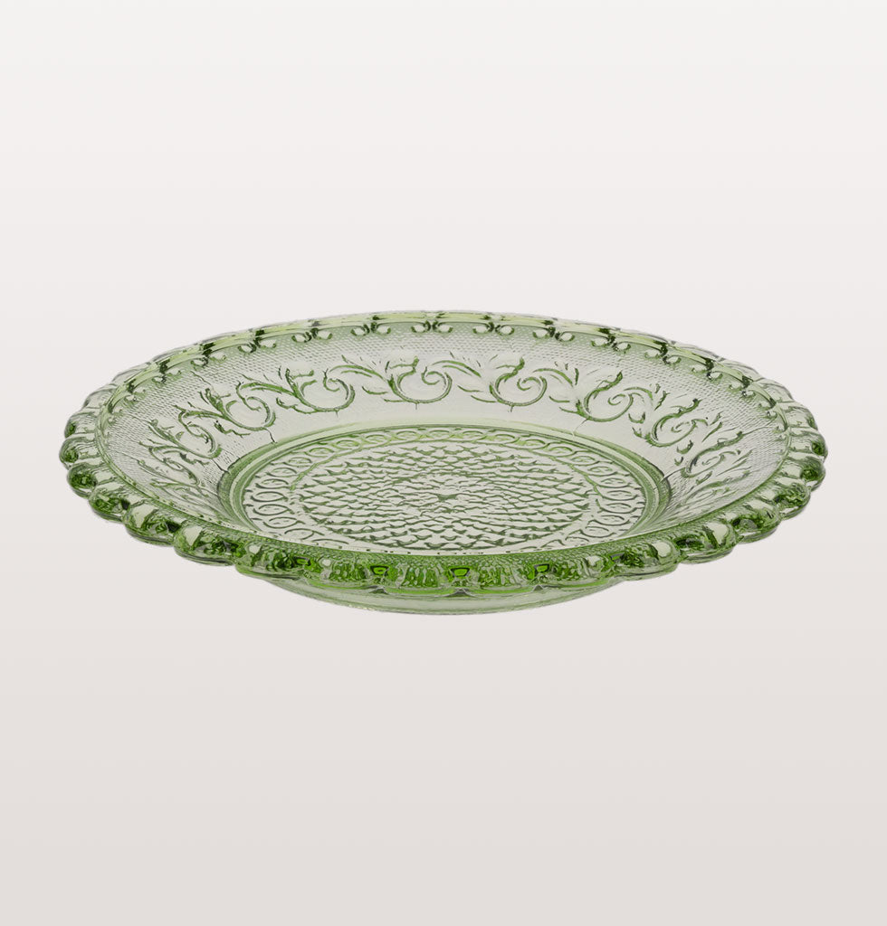 FLEUR DE LYS GLASS PLATE SET SMALL