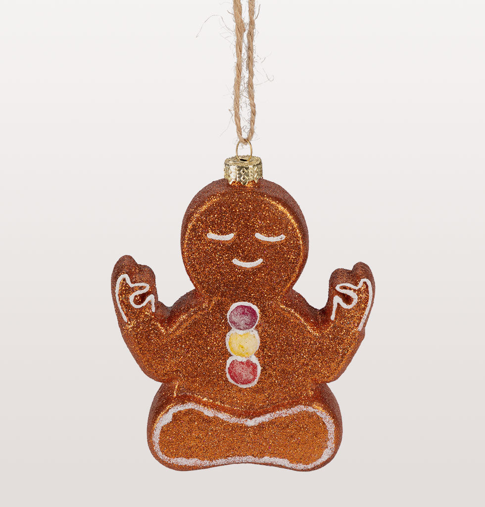 Stay firmly in the present this Christmas with this wonderfully fun Gingerbread yoga character. Just charming in every namaste way. So jolly, so cute and so tasty looking.