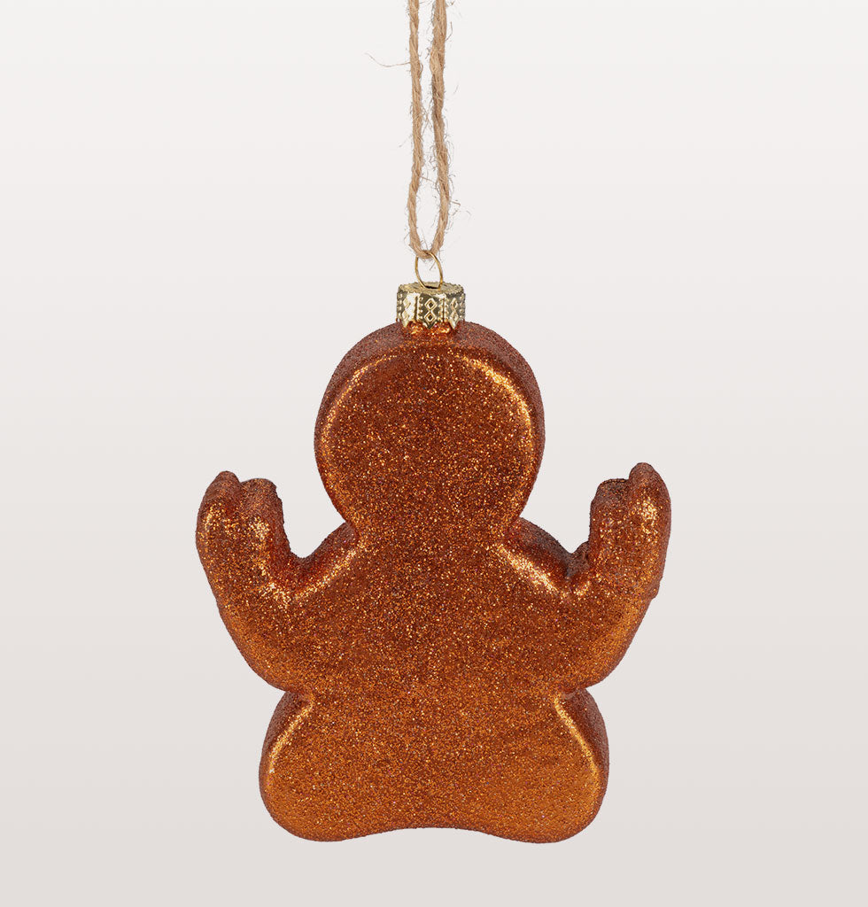 Stay firmly in the present this Christmas with this wonderfully fun Gingerbread yoga character. Just charming in every namaste way. So jolly, so cute and so tasty looking. Back View