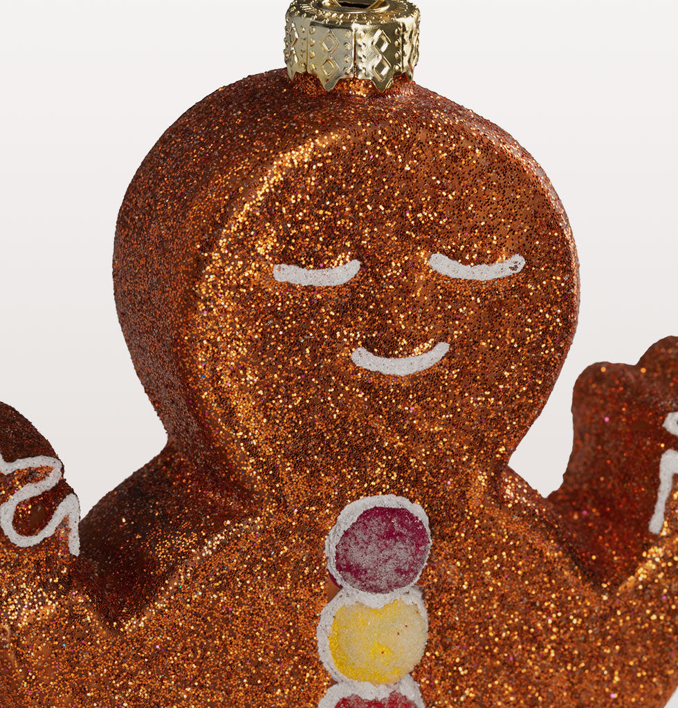 Stay firmly in the present this Christmas with this wonderfully fun Gingerbread yoga character. Just charming in every namaste way. So jolly, so cute and so tasty looking. Close Up