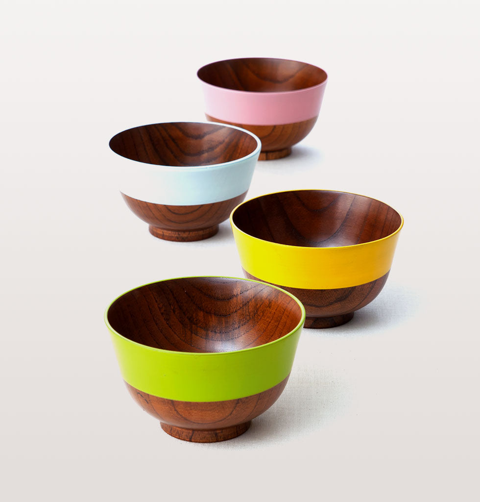 JAPANESE WOODEN SOUP BOWLS