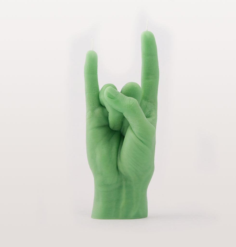 You Rock GREEN Hand Candle