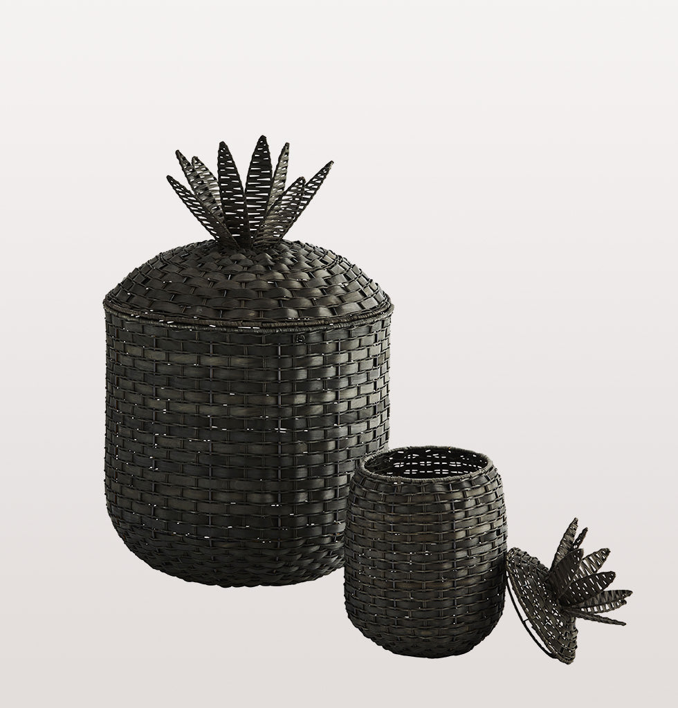 PINEAPPLE BASKET BLACK