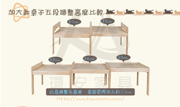 【Grow with Me】Children Adjustable Desk 幼兒成長桌