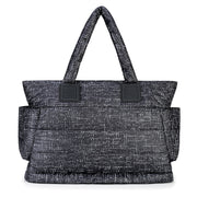Airy Tote Baby Diaper Bag - Black Tweed (L)