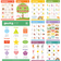 Cute Bilingual Chinese-English Poster Set (Traditional Chinese and Zhuyin) 可愛中英文幼兒學習海報