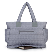 Airy Tote Baby Diaper Bag - Knitted Grey (L)