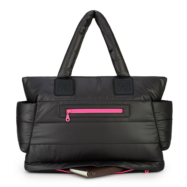 Airy Tote Baby Diaper Bag - Black Pink (L)