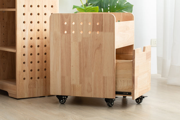 【Explorista】 Wooden Rolling Drawer Cubby 好好學跑跑書包櫃