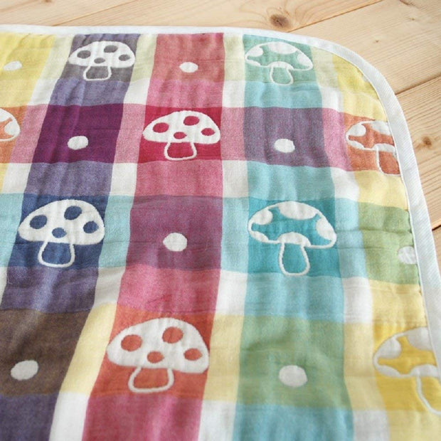 Hoppetta Six-Layered Gauze Blanket - Champignon (3 sizes)