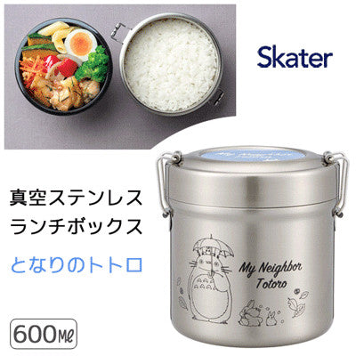 SKATER Cafe Bowl Stainless Steel Vcuum Insulation Food Jar 600 ml - Totoro