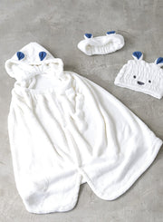 CARARI ZOOIE Microfiber 3X Quick Dry 2-Way Hooded Towel 動物連帽速乾浴巾