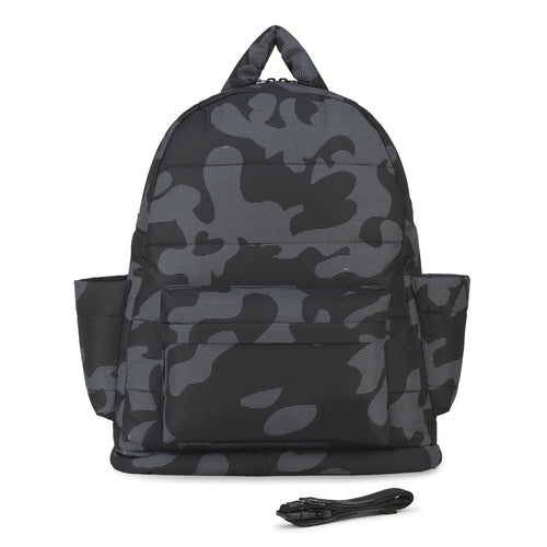 Airy Backpack Baby Diaper Bag - Black Camo (L)
