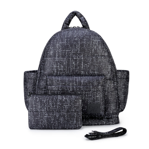 Airy Backpack Baby Diaper Bag -  Black Tweed 黑針呢 (M)