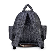 Airy Backpack Baby Diaper Bag -  Black Tweed (M)
