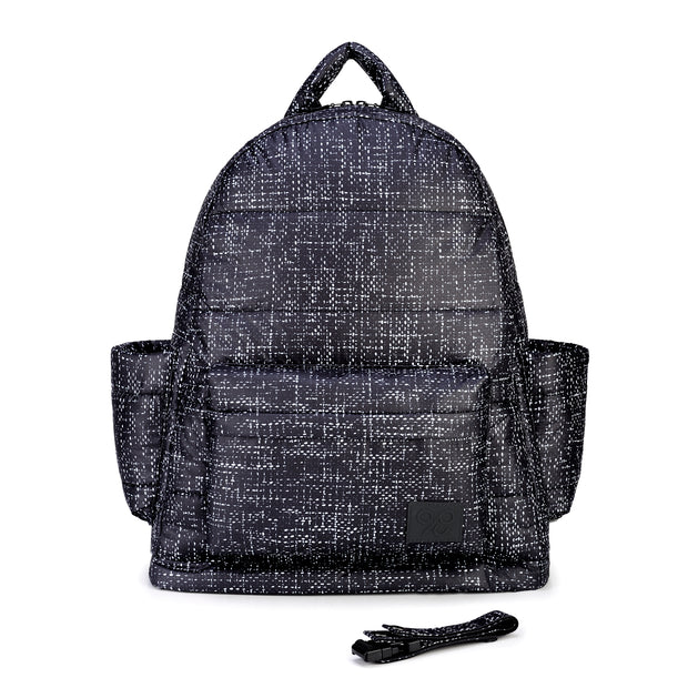 Airy Backpack Baby Diaper Bag - Black Tweed (L)