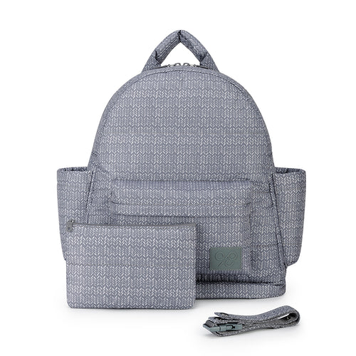 Airy Backpack Baby Diaper Bag -  Knitted Grey (M)