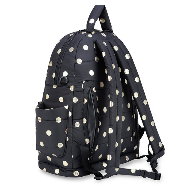 Airy Backpack Baby Diaper Bag - ECO Gold Polka Dot (L)