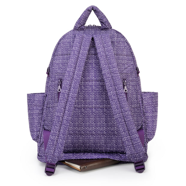 Airy Backpack Baby Diaper Bag - Knitted Purple (L)