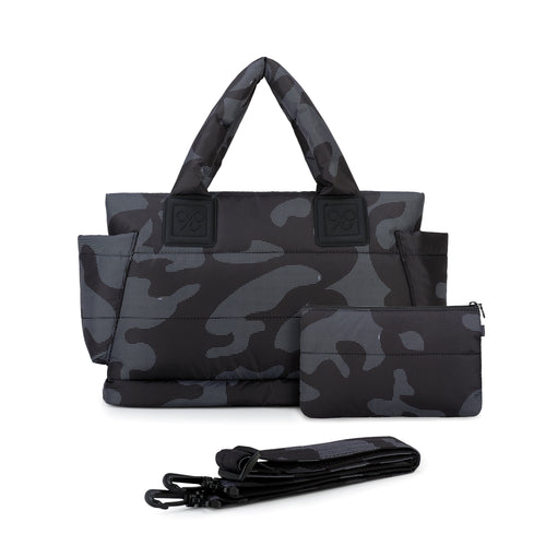Airy Tote Baby Diaper Bag - Black Camo 黑迷彩 (M)