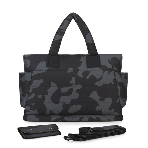 Airy Tote Baby Diaper Bag - Black Camo 黑迷彩 (L)