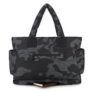 Airy Tote Baby Diaper Bag - Black Camo (L)