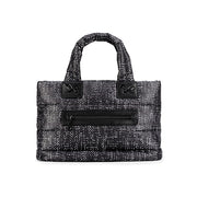 Airy Tote Baby Diaper Bag - Black Tweed (S)