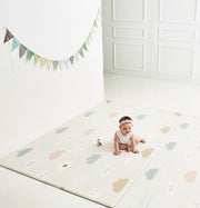 Parklon Reversible Pure Soft Play Mat - Blue Spots / Cloud Bebe