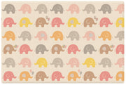 Parklon Reversible Pure Soft Play Mat - Little Elephant / Fabric Star