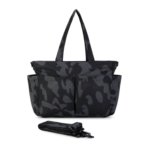 Light Multi-Purpose Tote -Black Camo (Large)