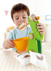 Hape Mighty Mixer Wooden Play Kitchen Set with Accessories