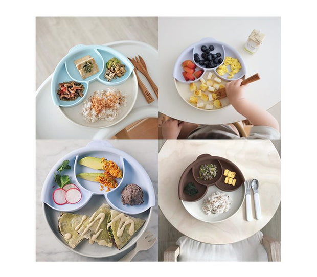 Miniware Healthy Meal Set - Aqua 聰明分隔餐盤組 - 薄荷綠 (2 Color Options)