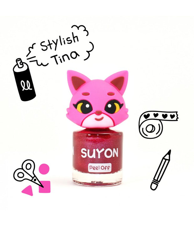 Suyon Collection - Kids Nail Polish - Stylish Tina- Deep Dark Red