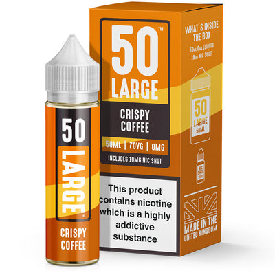 Crispy Coffee 50ml Short Fill by 50Large