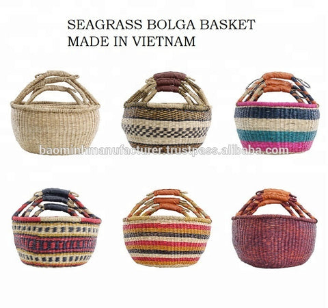 "Fake Vietnamese Seagrass ""Bolga"" Baskets"
