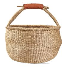 "Large fake Seagrass ""Bolga"" Basket"