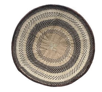African Wall Baskets - Binga Basket 50cm 3-Adinkra Designs