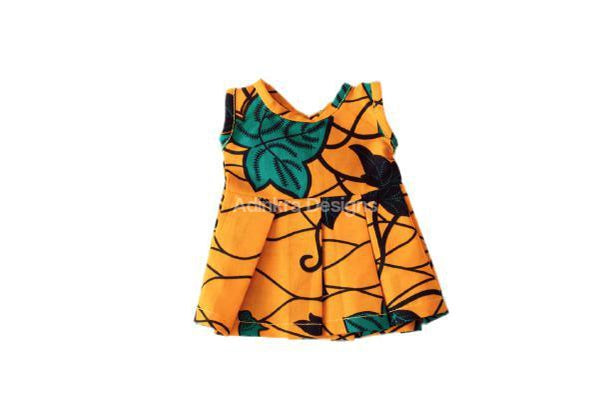 Dolls Dress – Yellow-Adinkra Designs