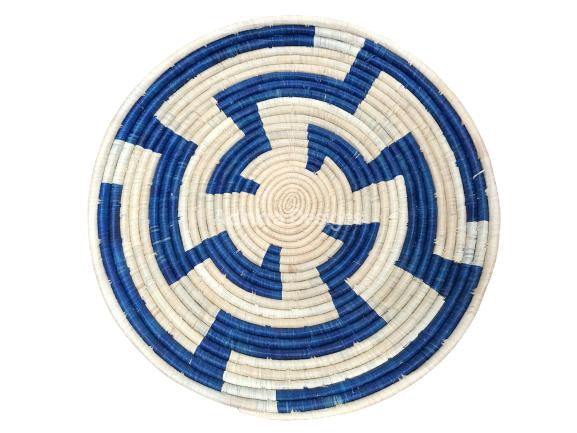 Afribeads Wall Baskets – Raffia Bowl 40cm - 3-Adinkra Designs