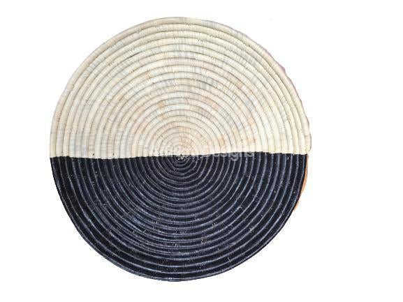 Afribeads Wall Baskets – Raffia Bowl 40cm - 5-Adinkra Designs