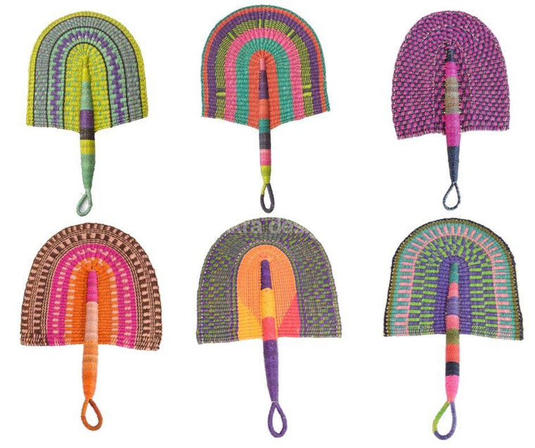 African Fan - Brightly Coloured - Wholesale-Adinkra Designs