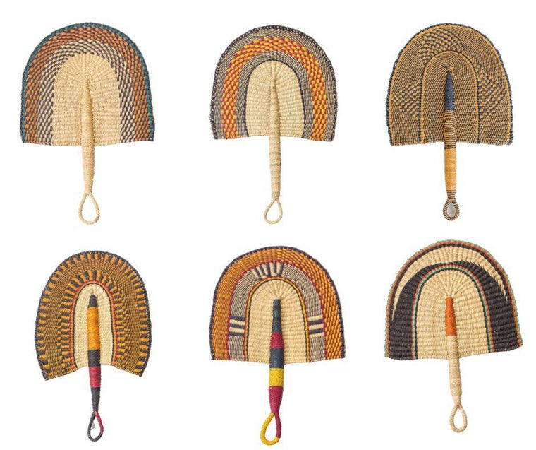 African Fan - Earthy Coloured - Wholesale-Adinkra Designs
