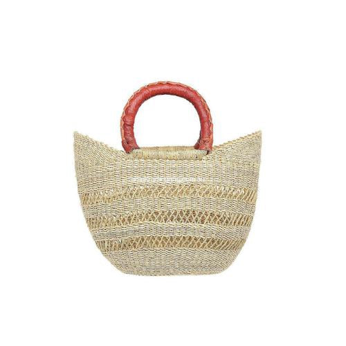 Eco-friendly, Artisan, Fair-Trade Mini Market Open Weave Basket from Ghana.