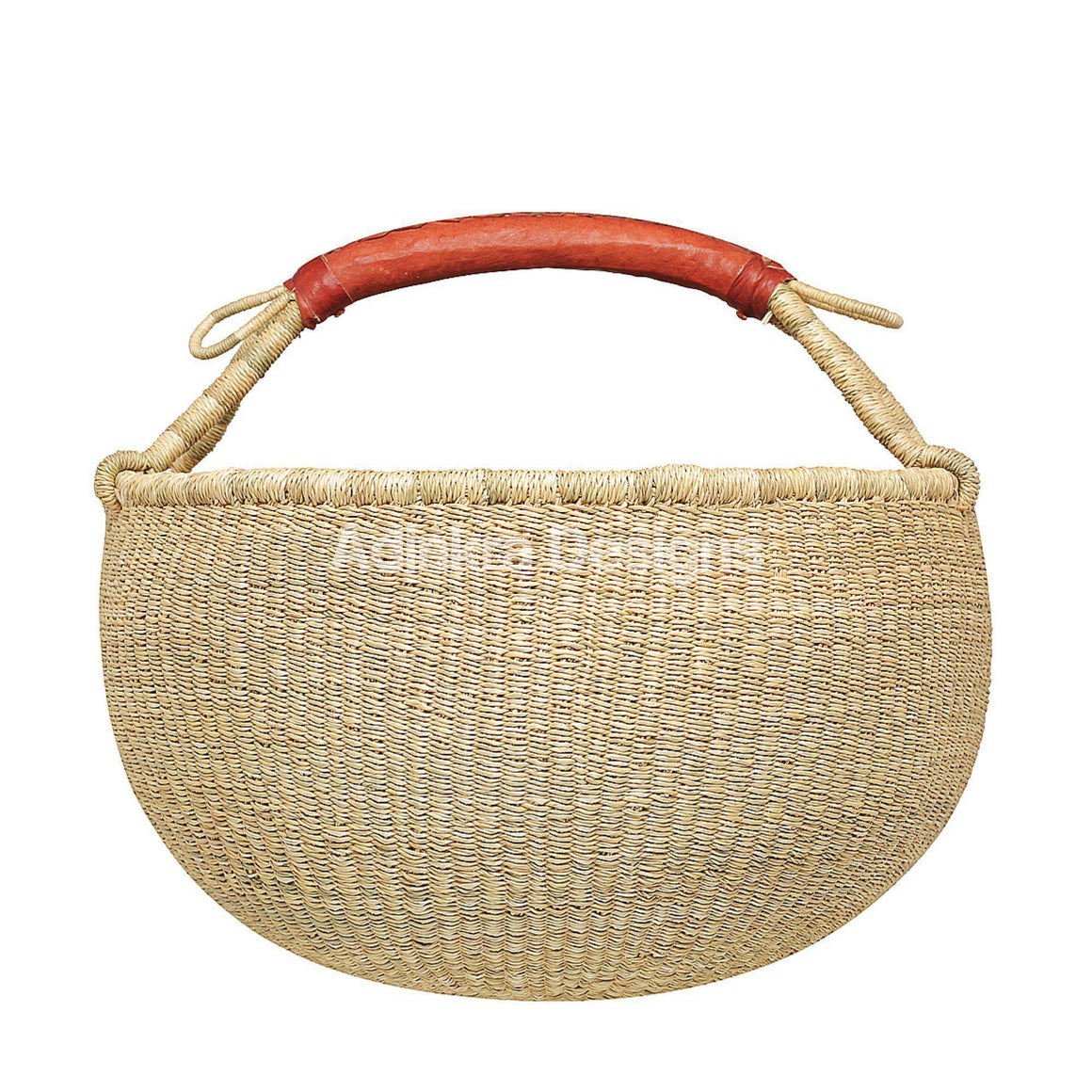 Eco-Friendly, Fair-Trade Bolgo Basket Adinkra Designs.