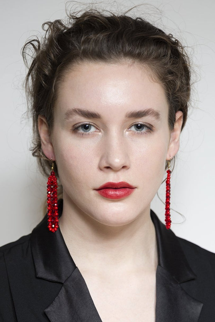 Red Beads Earring