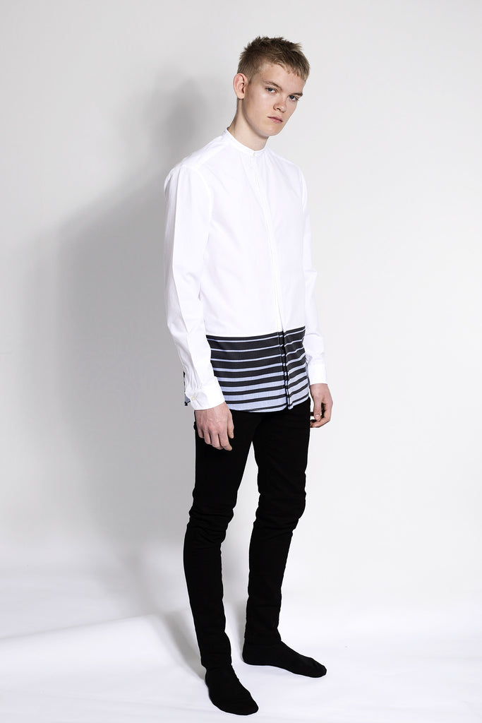 Stripes Hem Panel Shirt