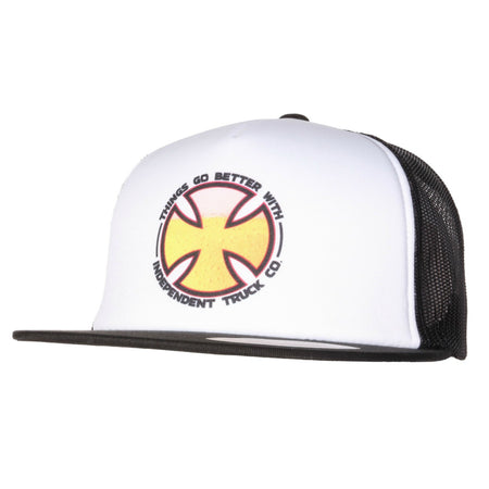 Independent Things Go Better Cap Mesh Back White