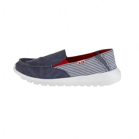 Hey Dude Ava Marine Stripe Slip on Mule