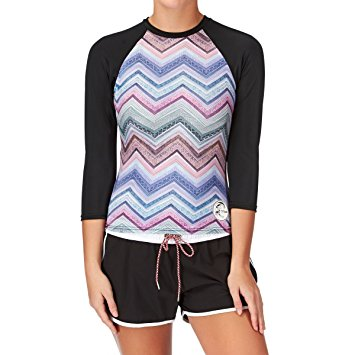 O'Neill Ladies 3/4 Sleeve Rash Vest